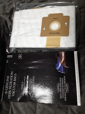 *NEW* 8ea. Riccar Genuine HEPA Filtration Vacuum Bags Type: F for Sale in Kent, WA