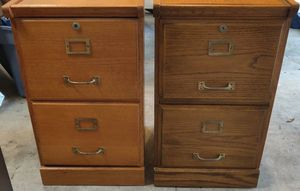 File cabinet(s), 2 wood file cabinets, Locking with keys. $20 each, 2 for $30 for Sale in Palm Harbor, FL