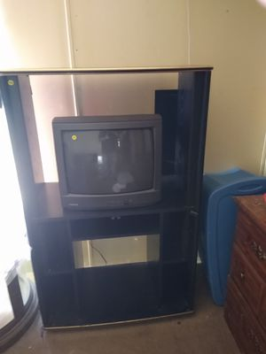 Tall TV stand and 13 in TV for Sale in Hutchinson, KS