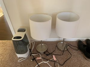 Night stand lights and humidifier for Sale in Alexandria, VA