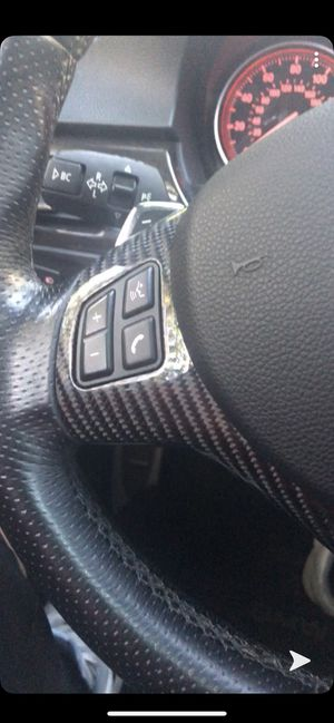 Real carbon fiber BMW E9x steering wheel trim for Sale in Seattle, WA