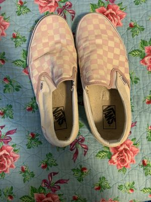 Bay pink checkered Vans sneakers for Sale in Texas City, TX