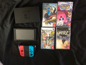 Nintendo Switch 4 games and all cords and controllers for Sale in Brooklyn, OH