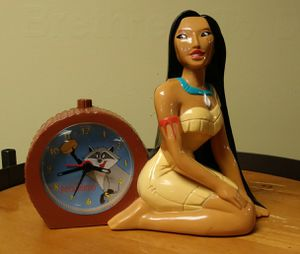 Vintage Disney POCHAHONTAS Plastic Kid's Clock for Sale in Jonesboro, GA