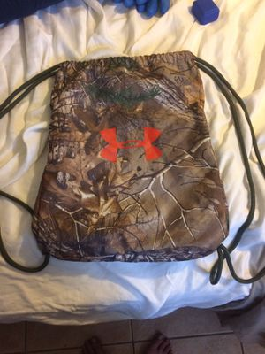 Under Armour camouflage string bag/backpack for Sale in Venice, FL