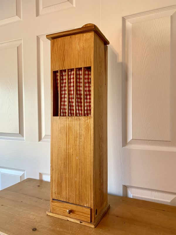 Vintage French Wooden Bread Baguette Box