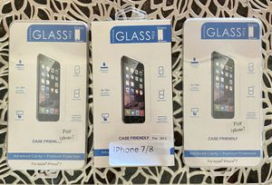 iPhone 7/8 tempered glass screen protectors (5) for Sale in Las Vegas, NV