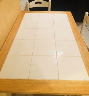 Real wood & ceramic tile kitchen table for Sale in Miami, FL