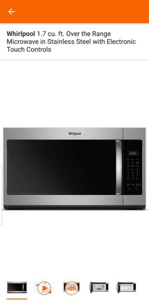 Whirlpool 1.7 cu microwave over the range for Sale in Atlanta, GA