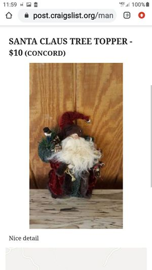 SANTA CLAUS TREE TOPPER for Sale in Lynchburg, VA