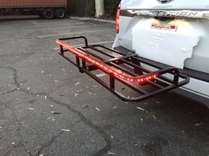 500lbs cargo hauler hitch luggage rack carrier with LED signal flashing stop light for Sale in ROWLAND HGHTS, CA