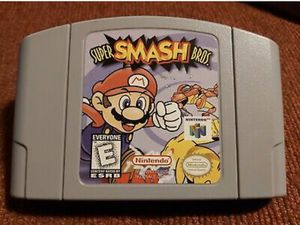 Nintendo 64 N64 Super Smash Bros Game for Sale in Lowellville, OH