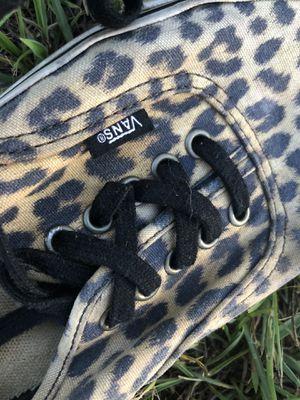 Vans cheetah print skate sneakers for Sale in Byron, GA