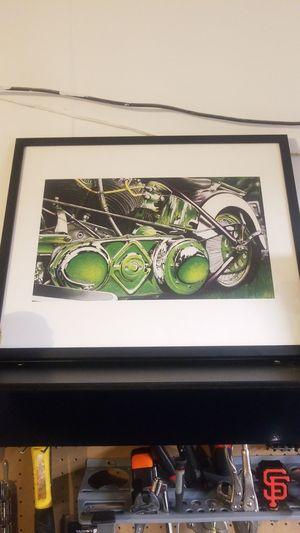 Harley davidson 1940 Knucklehead art for Sale in Antioch, CA