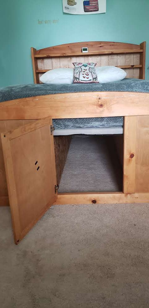 Real wood full/double bed with storage and secret passage