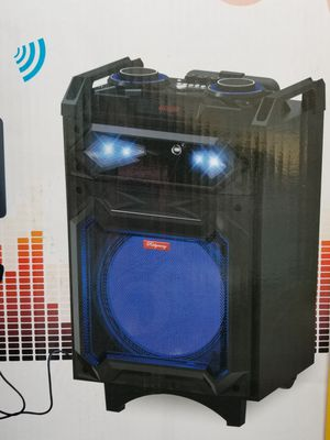 10 Inch New Bluetooth Speaker SD Card,Slot USB Port,FM Radio,Microphone Included For Karaoke ( Bosina ) Bz3 for Sale in Moreno Valley, CA