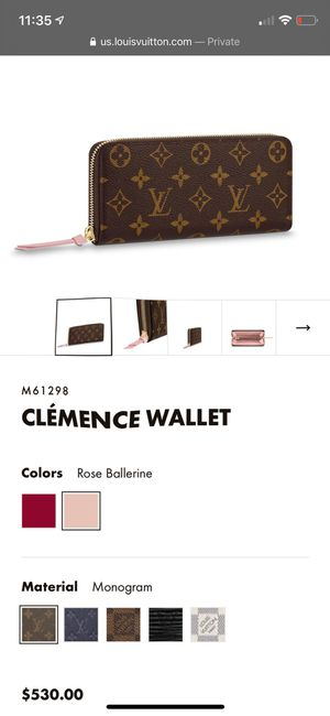 lv clemence wallet for Sale in Milford, CT