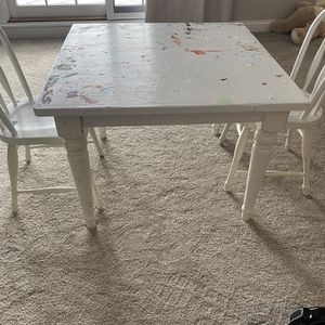 Pottery barn Kids Art Table And 2 Chairs for Sale in Barrington, IL