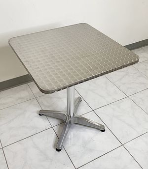 """Brand new $25 Aluminum 24""""x24"""" Square Table Indoor Outdoor Stainless Steel Top with Base, Height 27"""" for Sale in Pico Rivera, CA"""