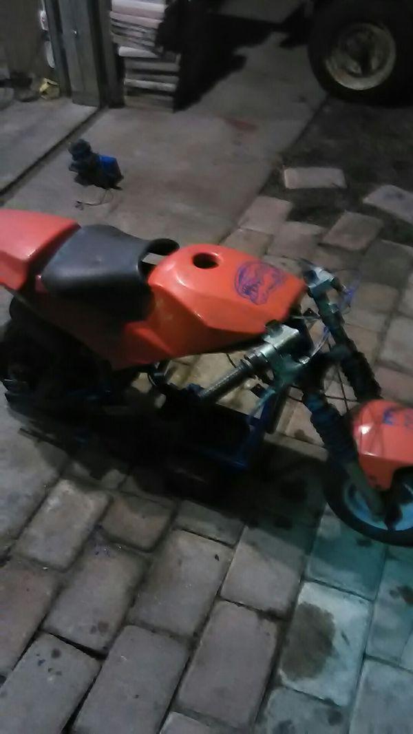 Mini bike frame and plastic
