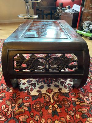 Beautiful Hand Carved Antique Coffee Table for Sale in Arlington, VA