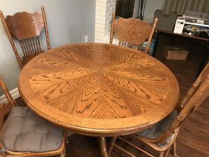 Wooden Table with 4 Chairs for Sale for sale  Yonkers, NY