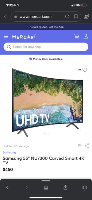 """Samsung curved 55"""" TV for Sale in San Jose, CA"""