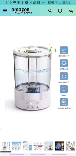 Cool mist humidifier for Sale in Red Bank, NJ