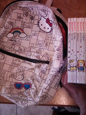 Hello Kitty books and backpack for Sale in Fresno, CA
