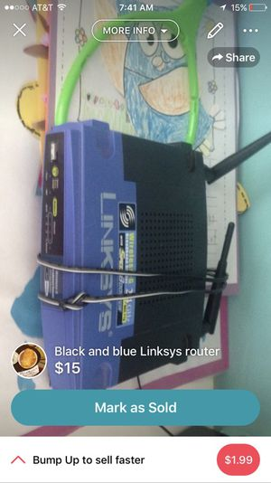 Linksys wireless router for Sale in Kingsport, TN