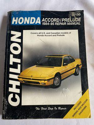 Chilton Honda car repair manual for Sale in Lynnwood, WA