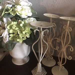 Holders Candles Metal And Vase for Sale in Bakersfield, CA