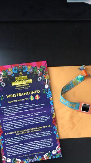 Beyond Wonderland Saturday Bracelet for Sale in San Luis Obispo, CA