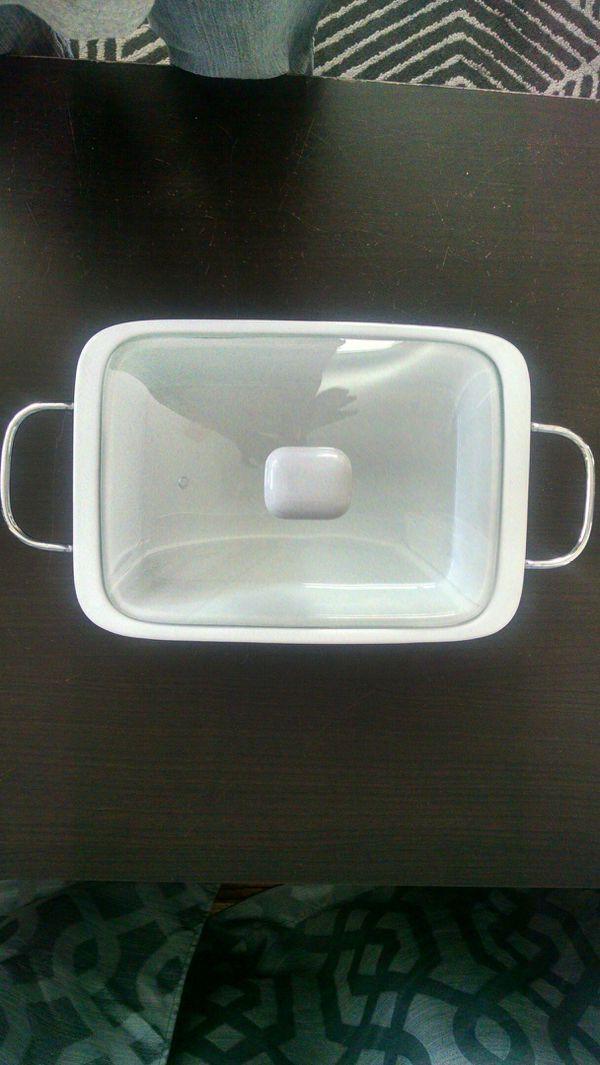 Porcelain Baker with Heating Rack for Sale!