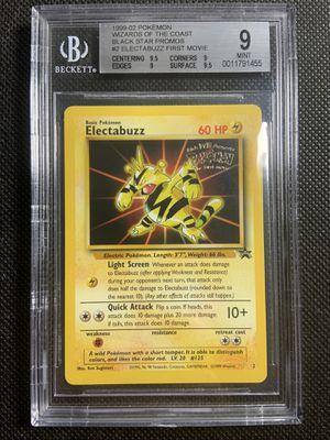 1999 bgs 9 mint pokemon electabuzz movie promo graded for Sale in La Mesa, CA