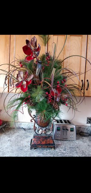 CHRISTMAS Artificial Flowers in Vase for Sale in Edmonds, WA