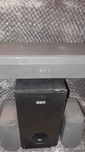 Sony surround sound speakers with RCA subwoofer for Sale in Tacoma, WA