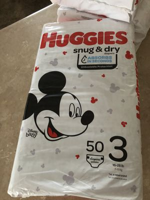 Huggies size 3 for Sale in West Valley City, UT