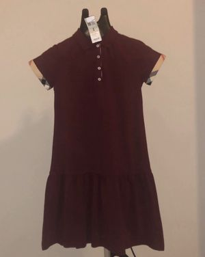 Burberry burgundy polo dress women small or 14y NWT for Sale in Raleigh, NC
