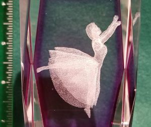 3D lazer etched glass collectable for Sale in FSTRVL TRVOSE, PA