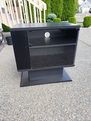 (PENDING PICK UP) - TV Stand with 2 Shelves & Glass Door for Sale in Auburn, WA