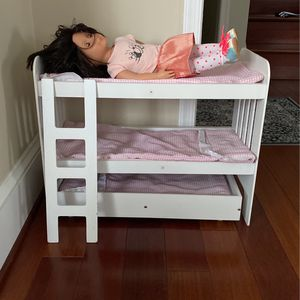 American Girl Doll Bunk bed And trundle for Sale in Alexandria, VA