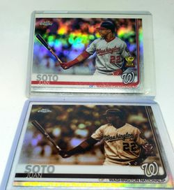 (2)2019 Topps Chrome Juan Soto REFRACTORS for Sale in Turlock,  CA