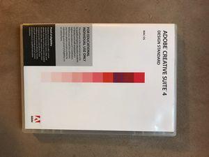Adobe Creative Suite 4 DVD case for Sale in San Francisco, CA