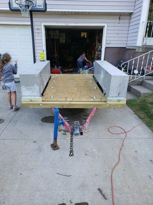 Trailer with ramps and truck boxes for Sale in Brunswick, OH