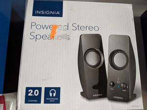 2.0 power stereo speakers insignia for Sale in Riverside, CA