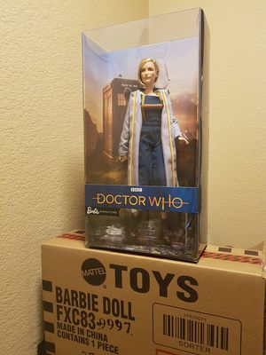 Limited Collectors Gold edition IN HAND 13th Dr DOCTOR WHO Barbie JODIE WHITTAKER doll figure Sonic Screwdriver, Tardis. Thirteenth for Sale in Phoenix, AZ