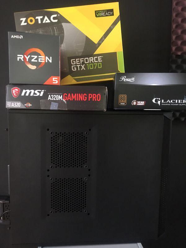 High End PC GTX 1070/ Ryzen 5/ 850w/ MSI/ DDR4