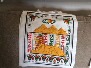 """2 Tot bags with pharaonic Egyptian art painting. Made in Egypt. Size 1 ft 4"""" x 1ft 4"""". $10. Each for Sale in Pinole, CA"""