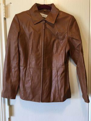 Dark caramel leather jacket for Sale in Austin, TX